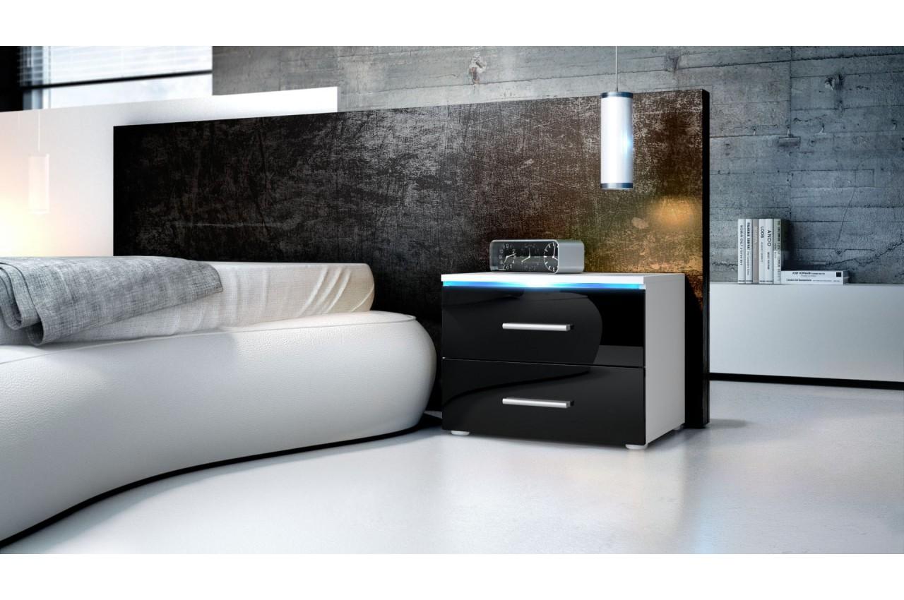 table de nuit moderne city cbc meubles. Black Bedroom Furniture Sets. Home Design Ideas