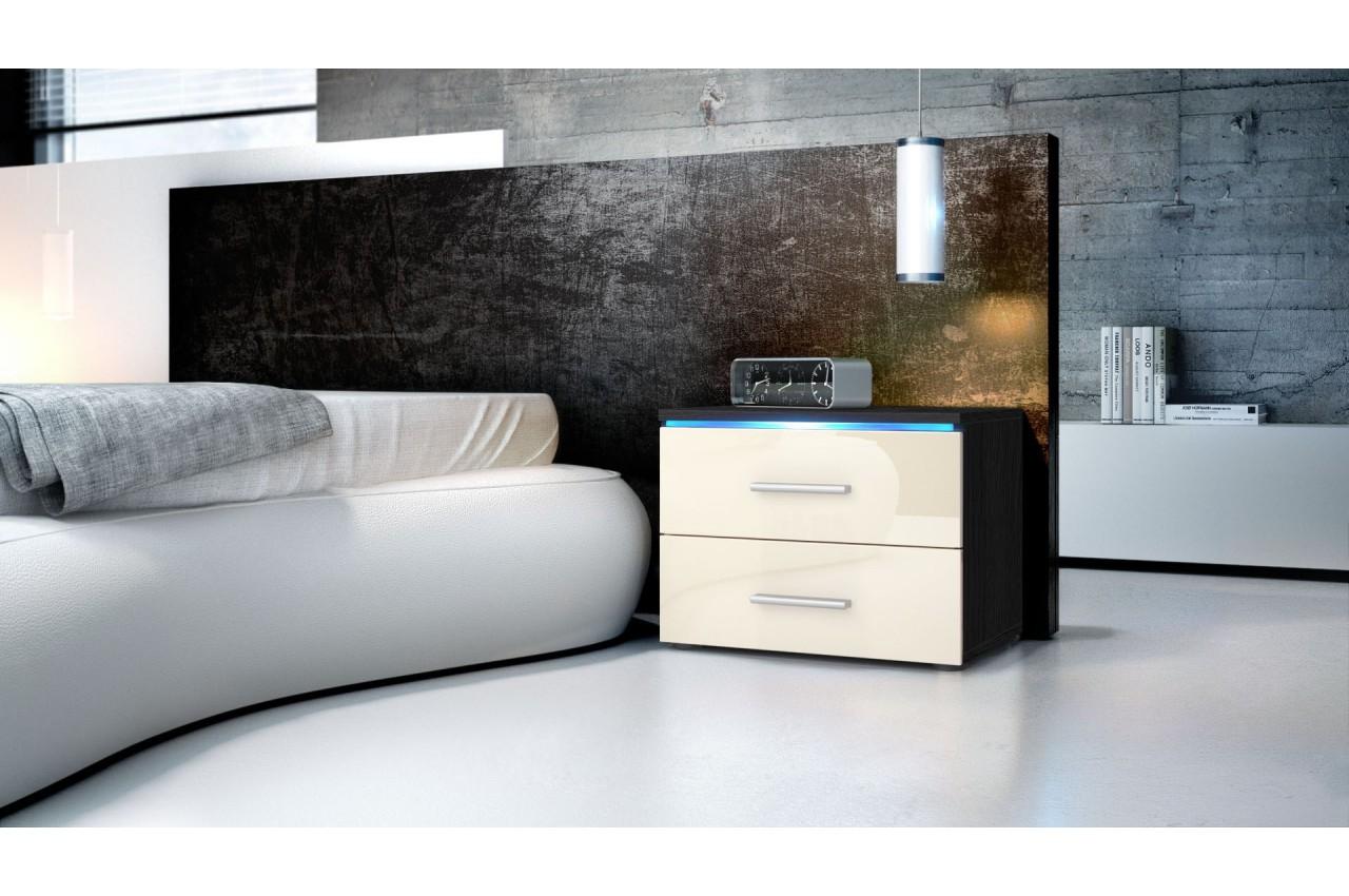 table de chevet design city cbc meubles. Black Bedroom Furniture Sets. Home Design Ideas