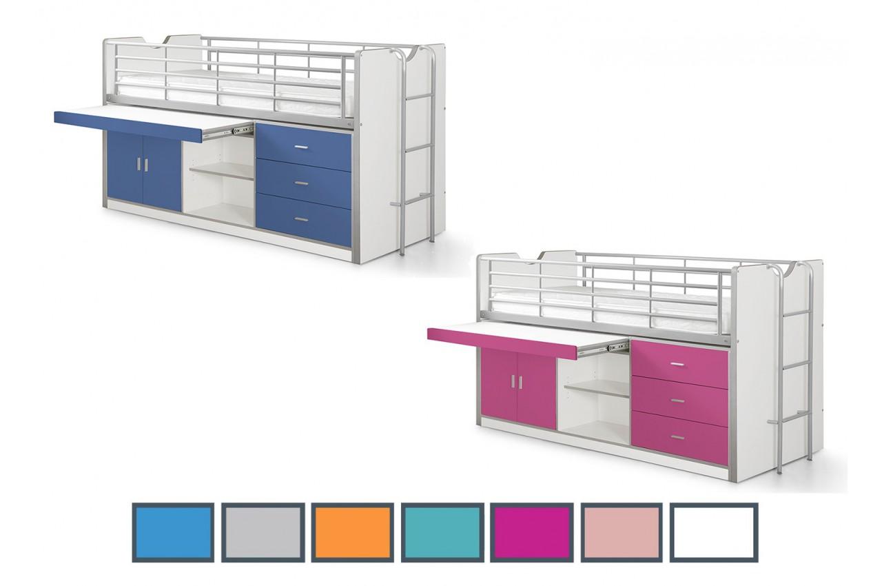 lit combin 7 coloris au choix bureau et rangement jack cbc meubles. Black Bedroom Furniture Sets. Home Design Ideas