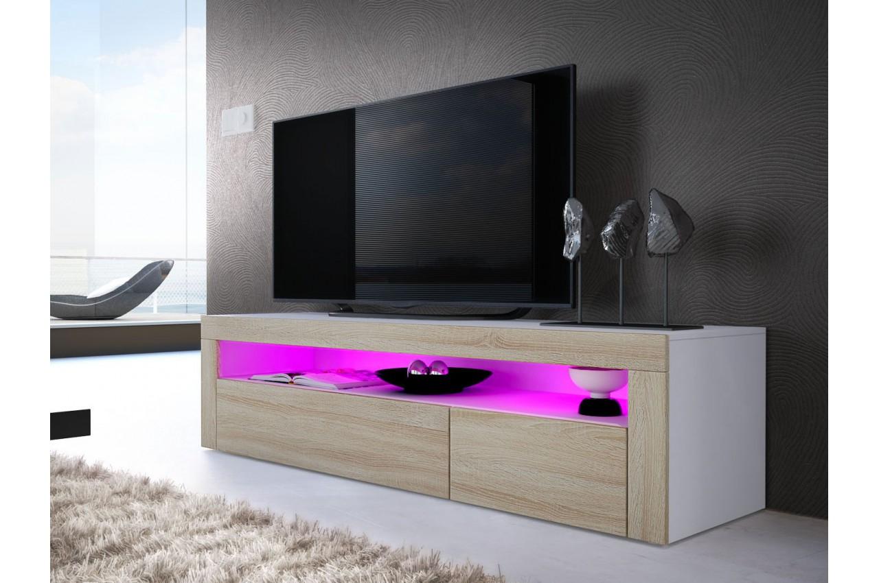 meuble tv bas moderne dylan cbc meubles. Black Bedroom Furniture Sets. Home Design Ideas