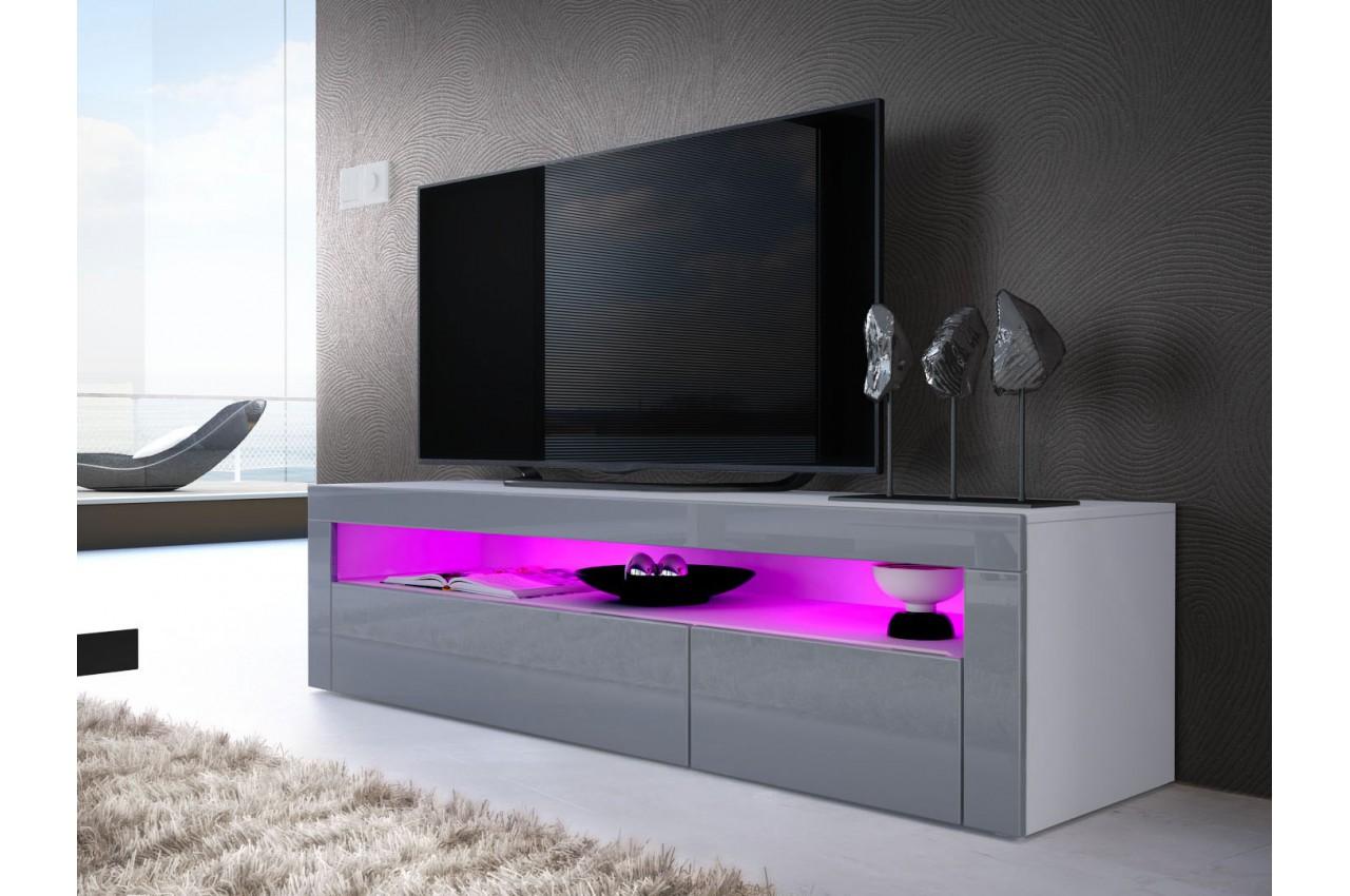 Meuble tv bas moderne dylan cbc meubles for Meuble tv moderne