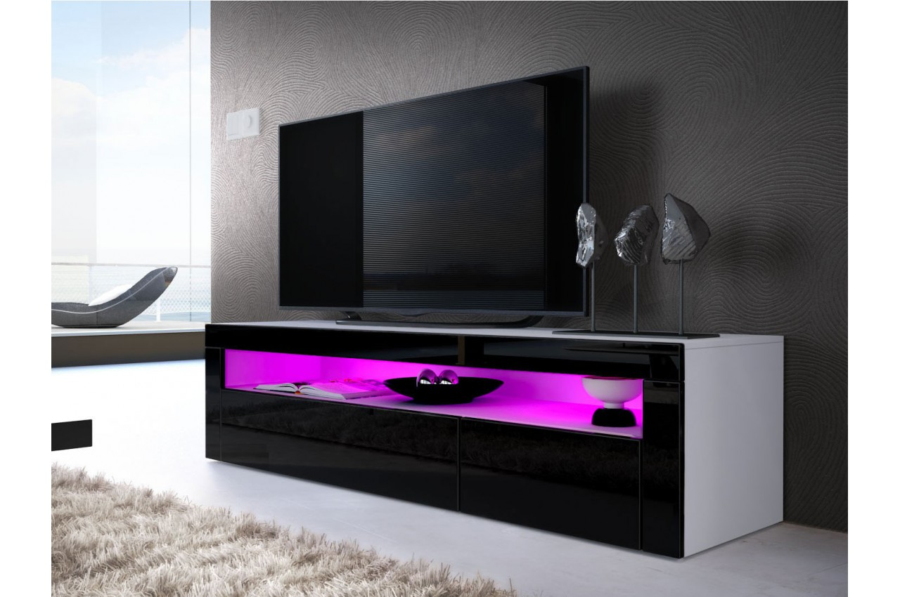 meuble tv bas moderne dylan cbc meubles. Black Bedroom Furniture Sets. Home Design Ideas