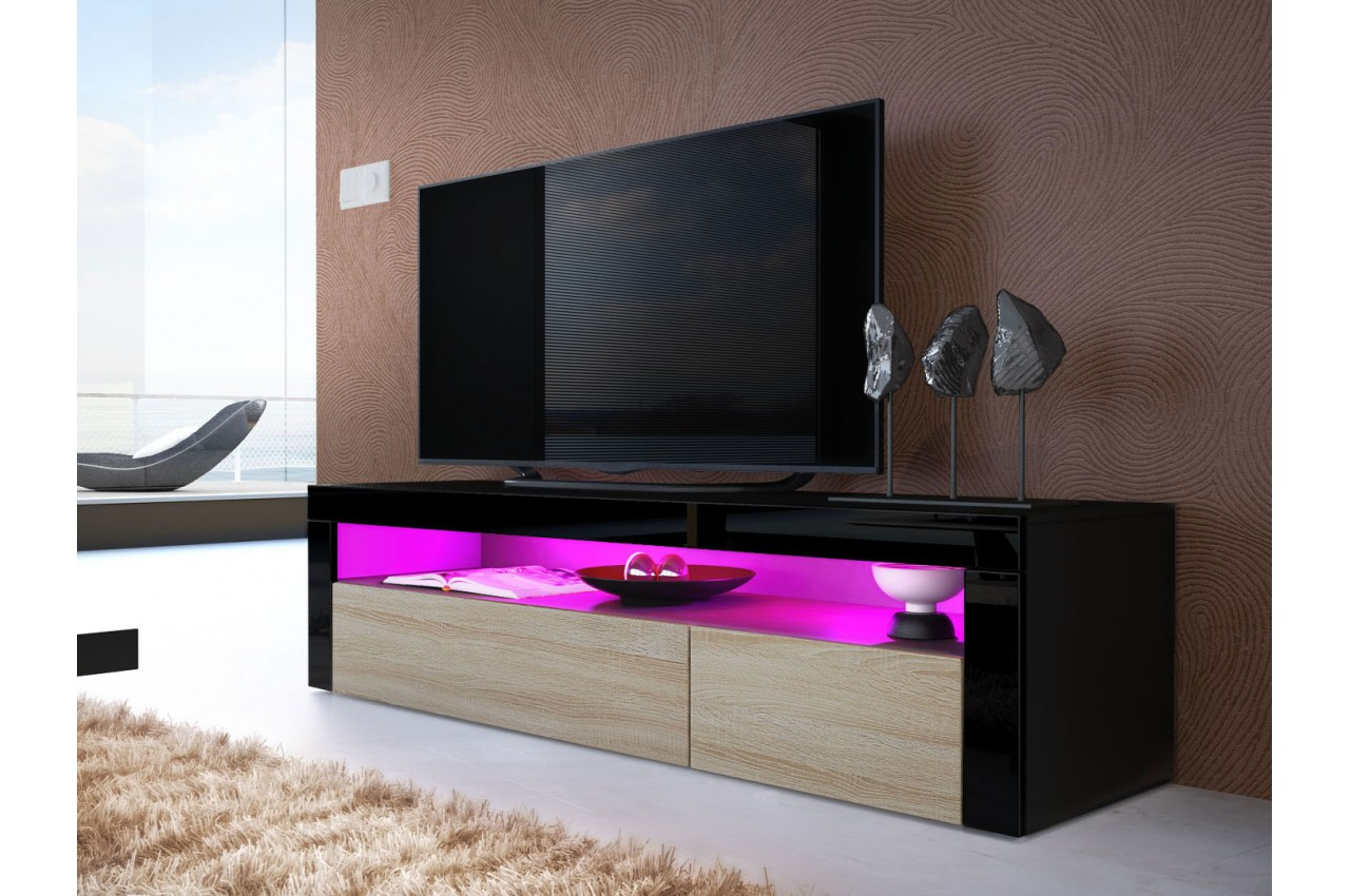 Meuble t l bas design dylan cbc meubles for Meuble tele bas
