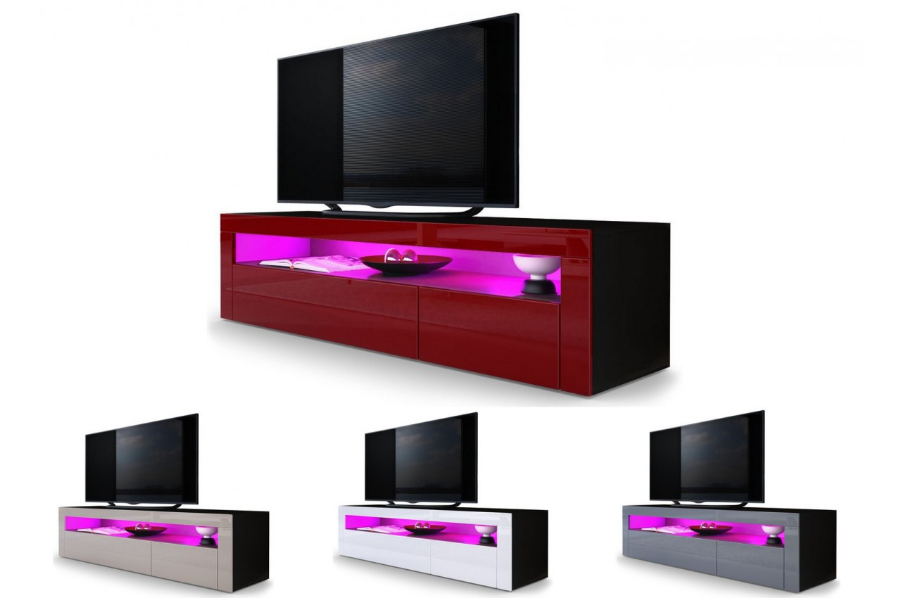 Meuble tv bas design dylan cbc meubles for Meuble bas salon design