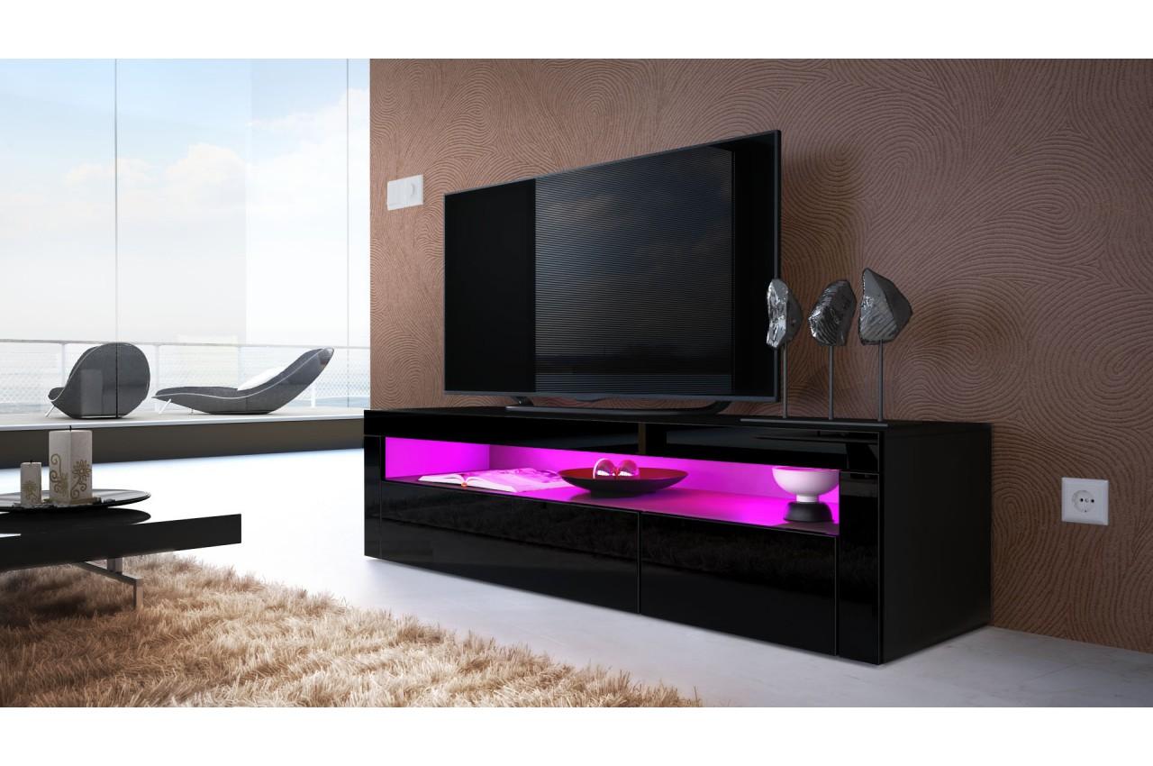 Meuble tv bas design dylan cbc meubles for Copie de meubles design