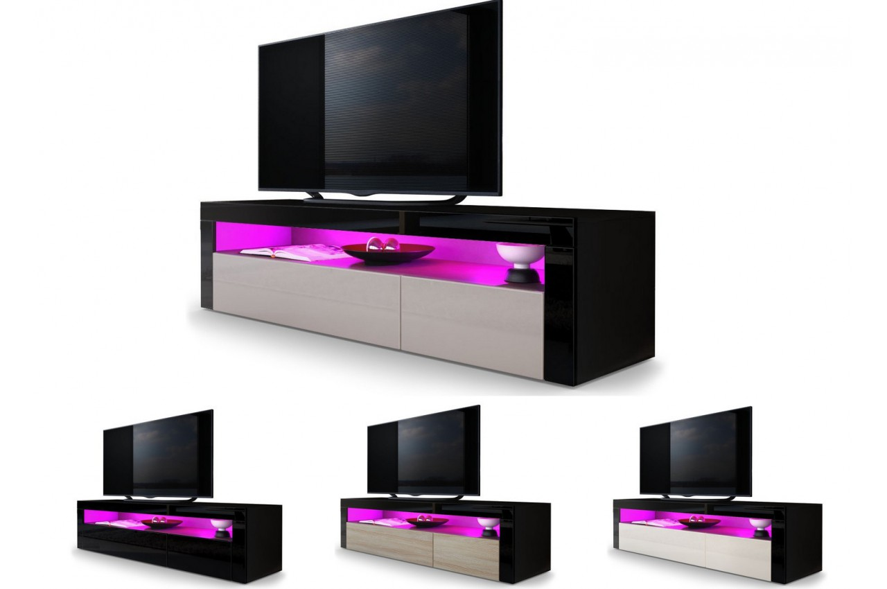 Meuble t l bas design dylan cbc meubles for Meubles tele design