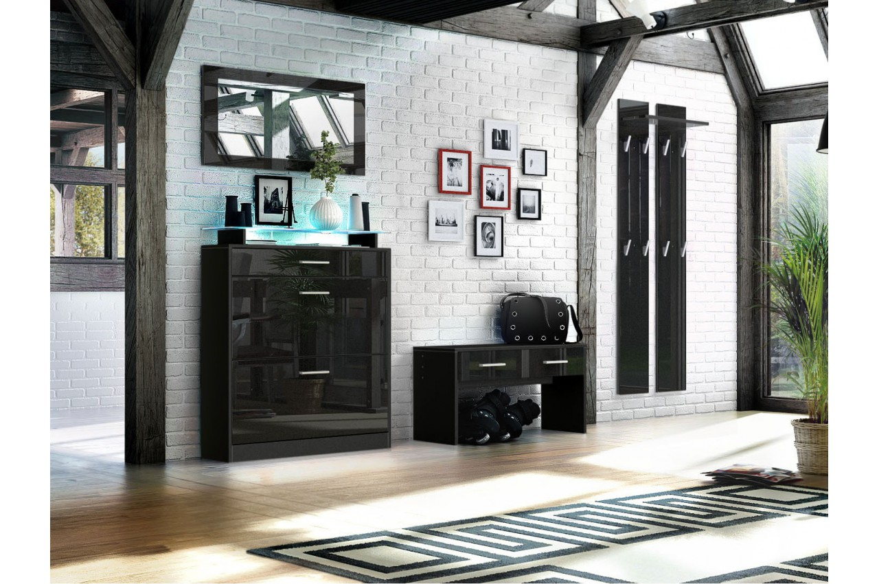 ensemble d 39 entr e vestiaire design bluebell large cbc meubles. Black Bedroom Furniture Sets. Home Design Ideas