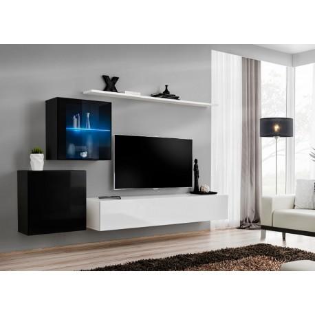 Meuble TV laqué suspendu COSTA 15