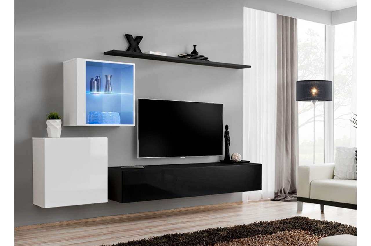 meuble tv laqu suspendu costa 15 cbc meubles. Black Bedroom Furniture Sets. Home Design Ideas