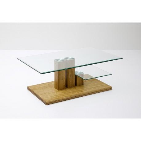 Table basse en verre et bois massif cbc meubles for Table basse bois et verre