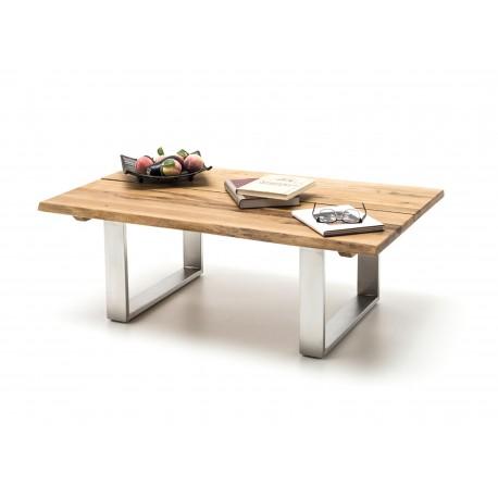 table basse en bois massif et pieds acier cbc meubles. Black Bedroom Furniture Sets. Home Design Ideas