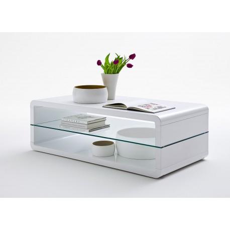 table basse design rectangulaire blanc laqu cbc meubles. Black Bedroom Furniture Sets. Home Design Ideas
