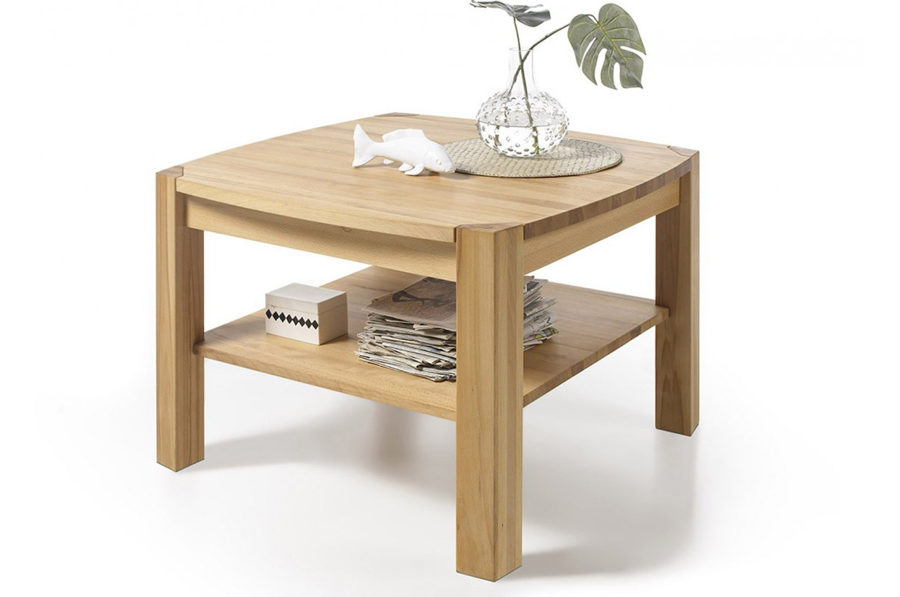 table basse carr e en bois massif cbc meubles. Black Bedroom Furniture Sets. Home Design Ideas