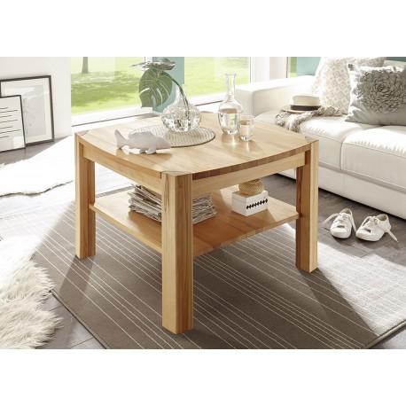 Table basse carr e en bois massif cbc meubles for Table basse carree bois massif