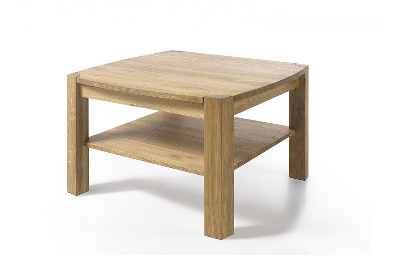 Table basse carr e en bois massif cbc meubles - Table basse carree en bois ...