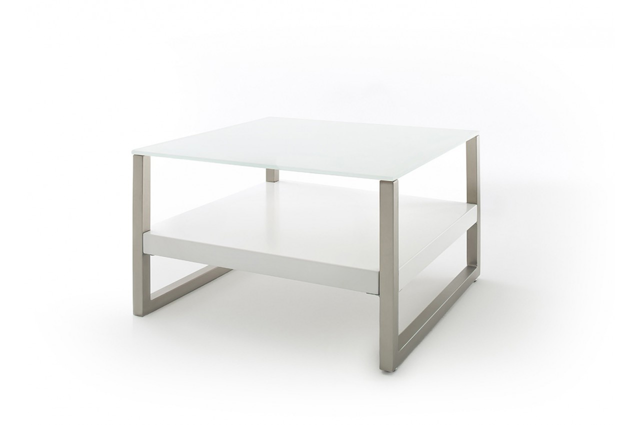Table basse design blanche et verre blanc cbc meubles for Table design blanche