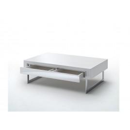 Table Basse Carree Blanc Laque Cbc Meubles