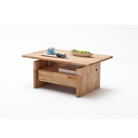 Table basse relevable en bois massif cbc meubles for Table basse bois relevable