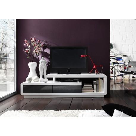 Meuble TV design laqué blanc