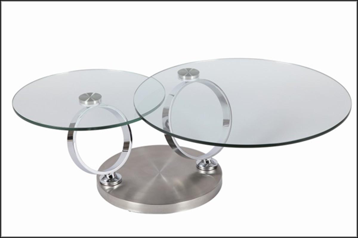 Ehrf Rchtige Table Basse En Verre Ronde Id Es De