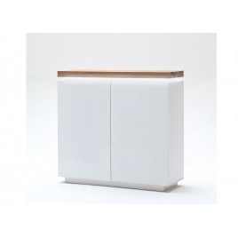 Buffet haut contemporain blanc à led