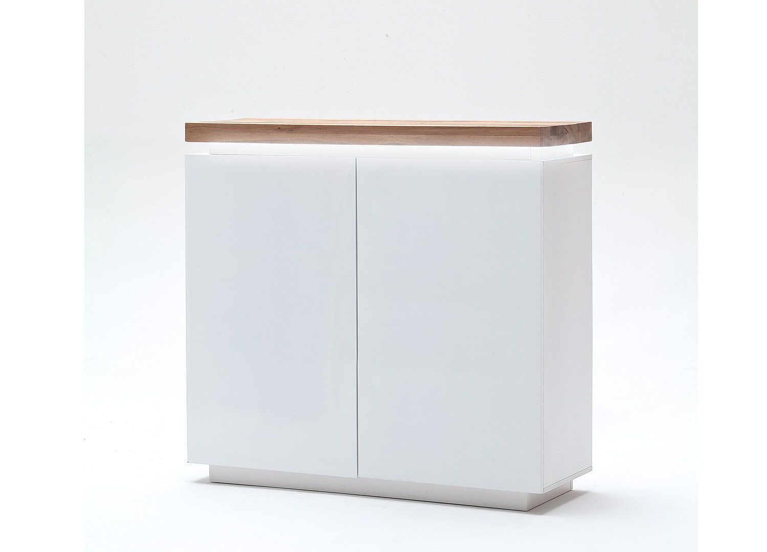 Commode contemporaine blanche à led