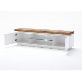 Meuble tv design ameublement moderne pour t l vision for Banc tv bois blanc