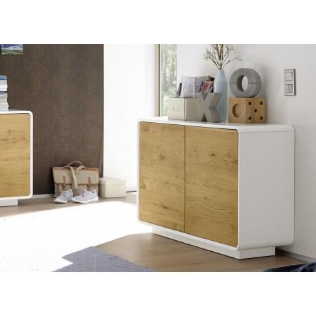 meuble commode design bois et laque matte blanche cbc