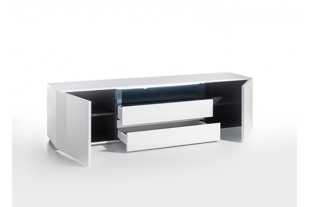 meuble tv design laqu blanc brillant cbc meubles. Black Bedroom Furniture Sets. Home Design Ideas