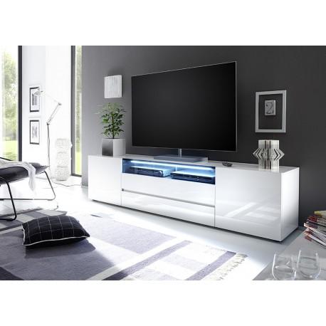 Meuble Tv Design Laque Blanc 2m Cbc Meubles