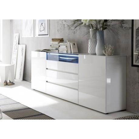Buffet design laqué blanc brillant - Cbc-Meubles