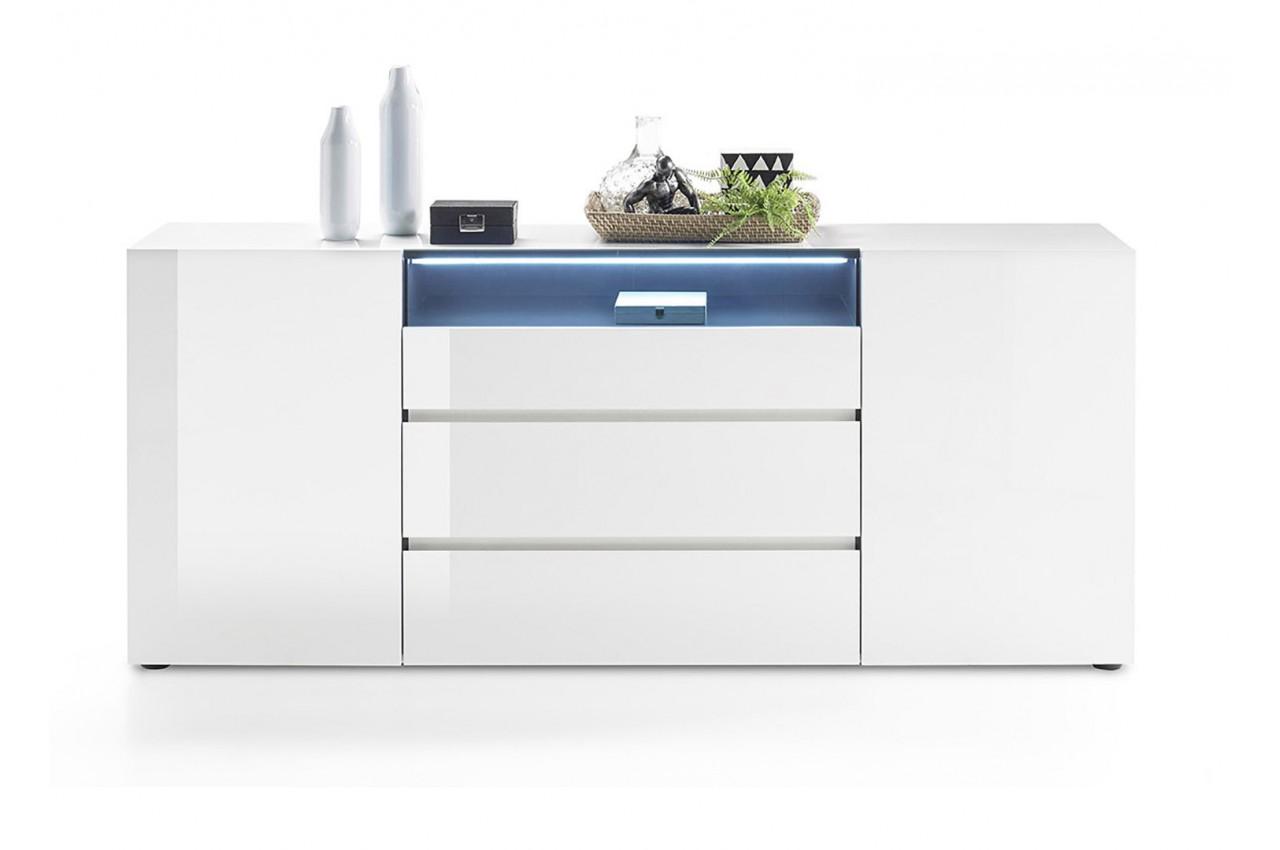 buffet design laqu blanc brillant cbc meubles. Black Bedroom Furniture Sets. Home Design Ideas