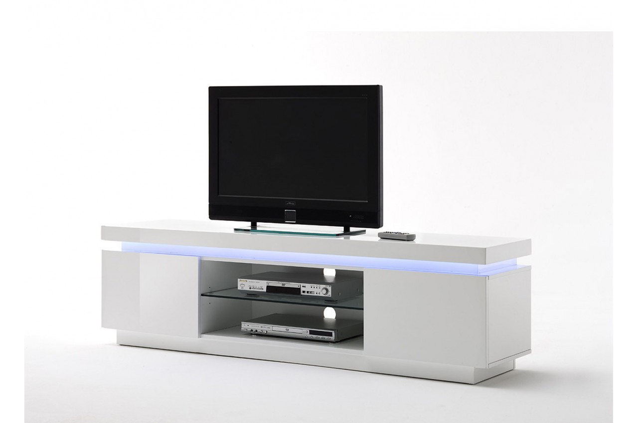 meuble tv design laqu blanc led rgb cbc meubles. Black Bedroom Furniture Sets. Home Design Ideas
