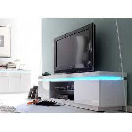 Meuble TV design laqué blanc à led rgb
