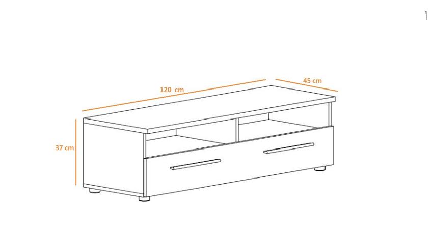 meuble t l 120 cm noyer am ricain rubby cbc meubles. Black Bedroom Furniture Sets. Home Design Ideas
