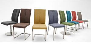 chaises de salle à manger moderne et design pieds chromé