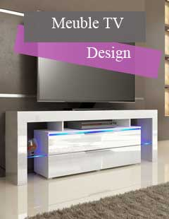 Meuble design moderne contemporain cbc meubles for Petit meuble tv design