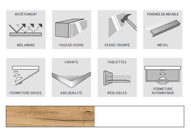 Détail de la qualité des meubles entrée TELDE