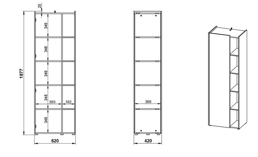 Dimensions de l'armoire