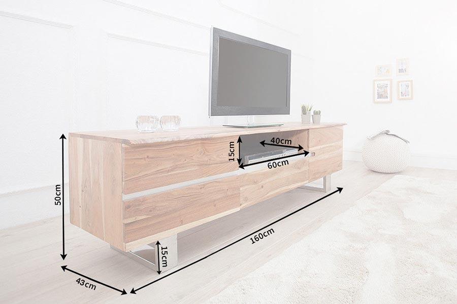 Banc tv bois massif acacia