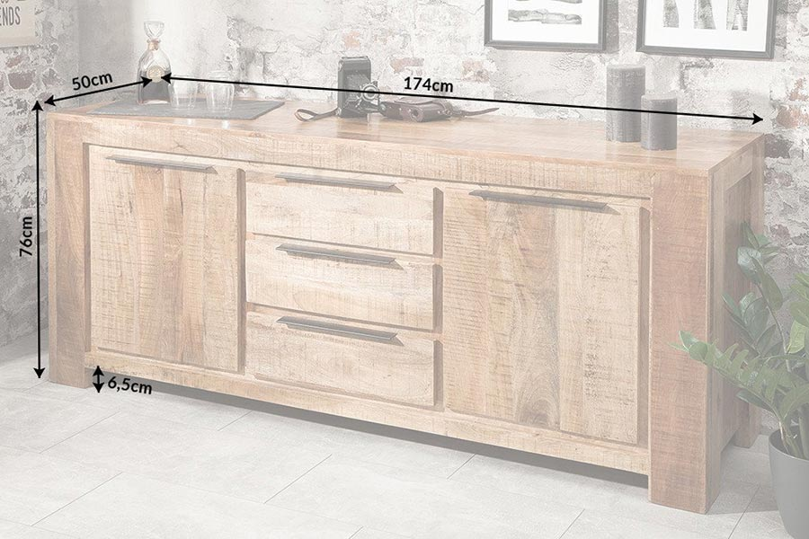 Buffet design bois massif manguier