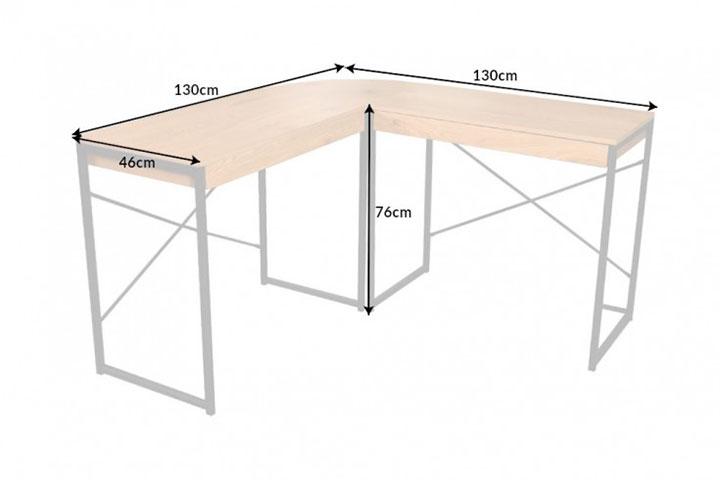 Bureau d'angle design bois et métal