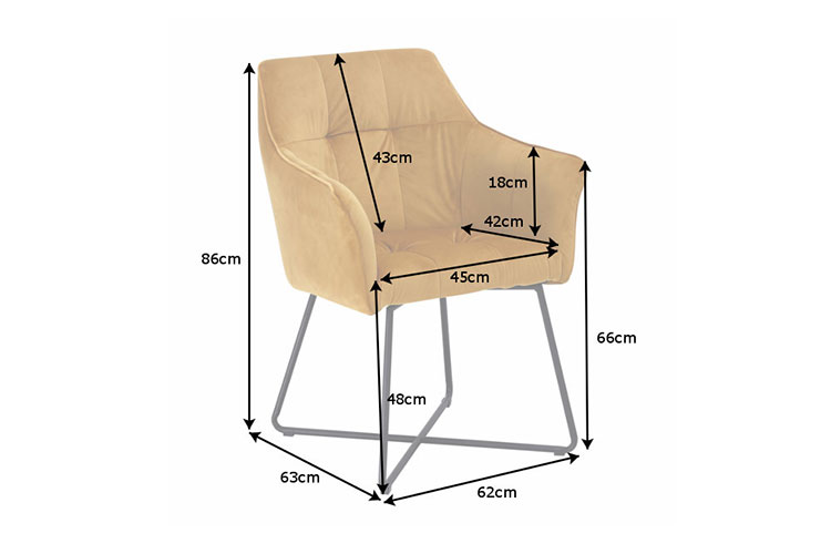 Chaise jaune avec accoudoirs