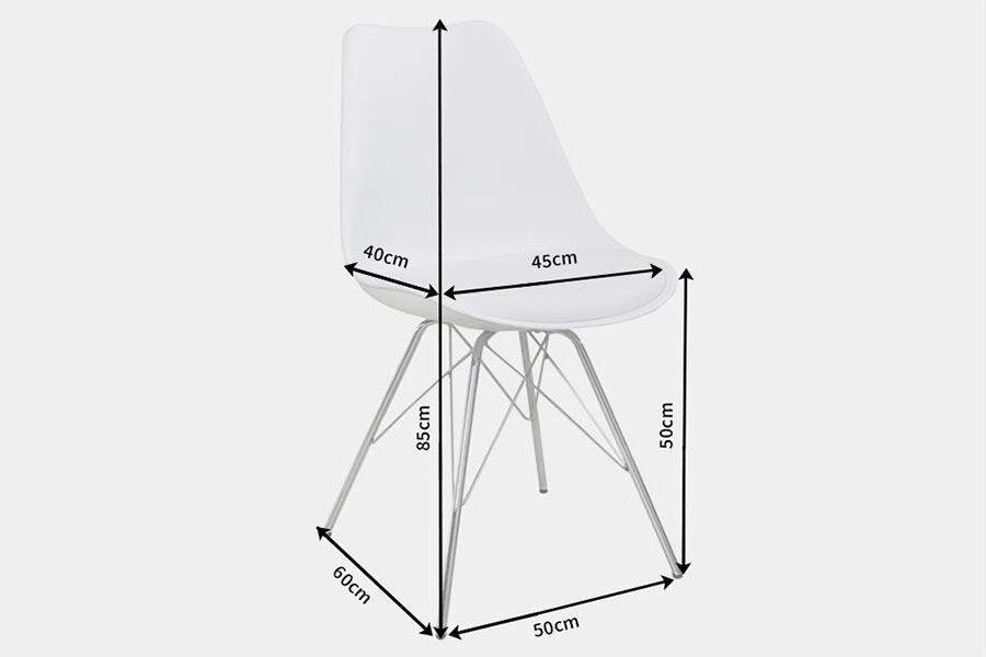 chaises blanches rétro