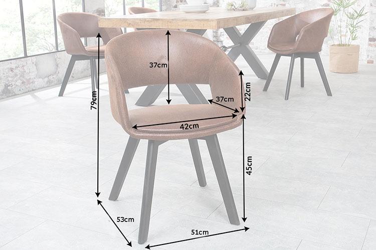 Chaise marron avec accoudoirs et dossier ouvert