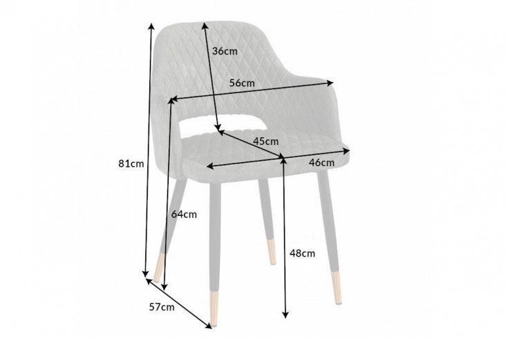 Détail de la chaise en velours