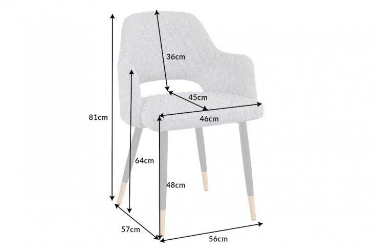 Détail de la chaise en tissu