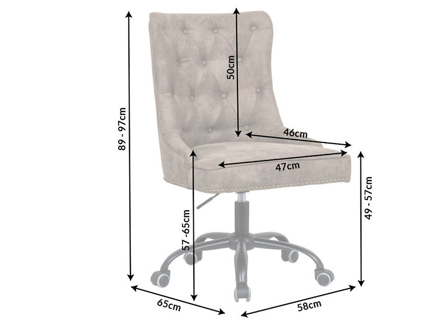 Fauteuil de bureau marron design