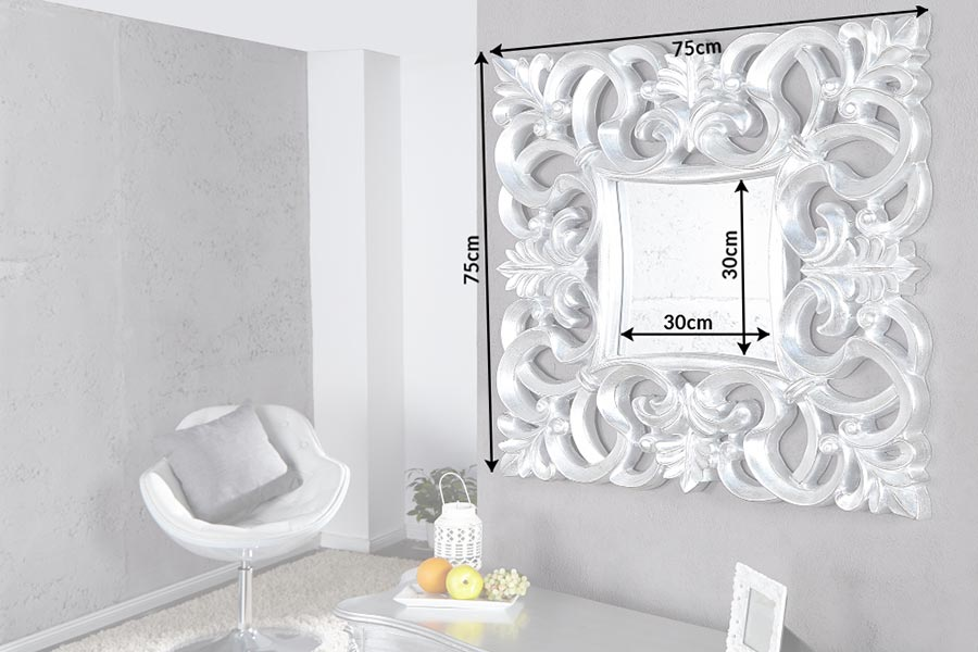 Miroir mural décoratif carré