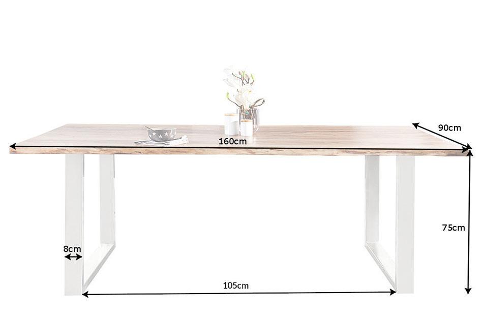 Table à manger 1m60 bois massif acacia